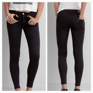 American Eagle AE Sateen X Jegging Black Jeans